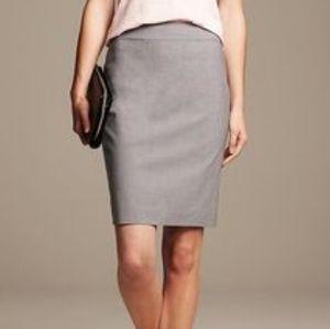 Banana Republic High Waist Wool Blend Pencil Skirt